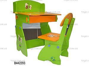 Детская парта «Мишки» и стул, W039