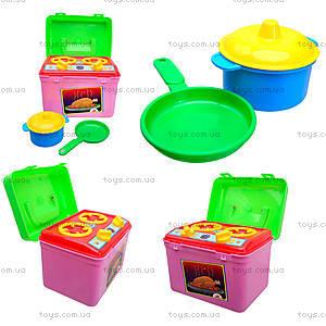 Детская печка с посудой, 1004