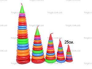 Детская пирамидка, 24 см, 017, фото
