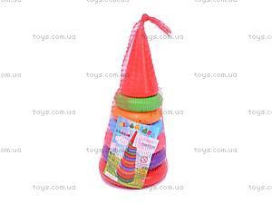 Детская пирамидка, 24 см, 017, отзывы