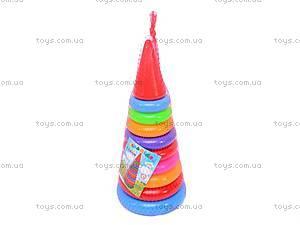 Детская пирамидка, 34 см, 018, купить