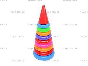 Детская пирамидка, 34 см, 018