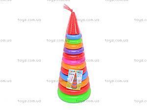Пирамидка «Колечки», 019, фото