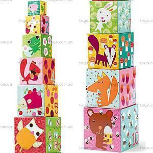 Детская пирамидка «Лесные жители», DJ08507, детские игрушки