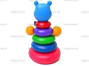 Детская пирамидка «Медведь», , фото