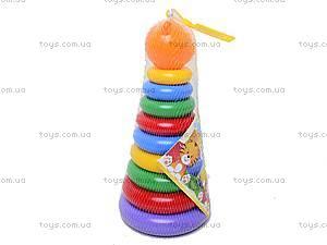 Детская пирамидка с колечками, 39103, купить