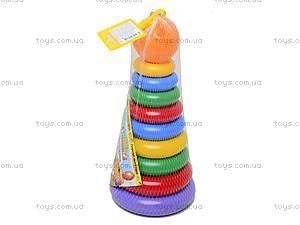 Детская пирамидка с колечками, 39103, фото