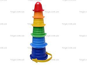 Детская пирамидка «Сомбреро», 6 деталей, 2698, купить