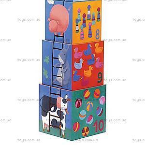 Детская пирамидка «Забавные кубики», DJ08503, фото