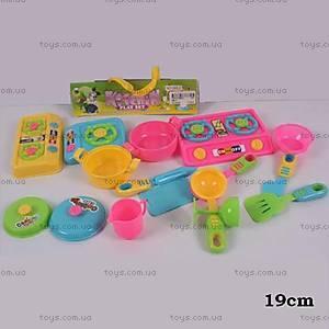 Детская пластиковая посудка с плитой, 986-2