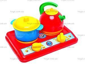 Детская плита с посудой «Маринка» , 1554, игрушки