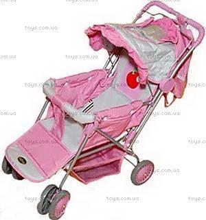 Детская прогулочная коляска для куклы, 4 колеса,
