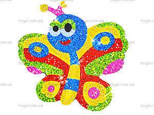 Детская раскраска по номерам «Бабочка» с блестками, 4004-8, детские игрушки