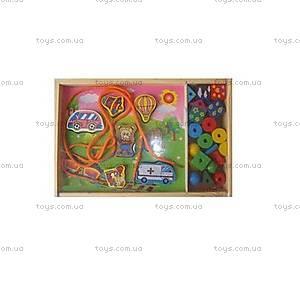 Детская развивающая игрушка-шнуровка , W02-4246