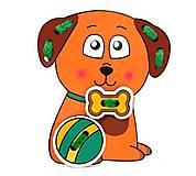 Детская шнуровка «Собачка», DSH6