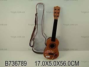 Детская струнная гитара, в чехле, B-74C (736789