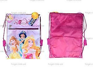 Детская сумка для обуви с карманом Princess, P14-601-3K