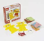 Детская игра - шнуровка «Одень Мишку», 0564, купить