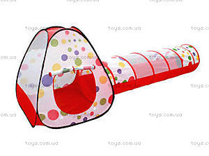 Детская игровая палатка с переходом, 66899, купить