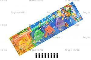 Детская игрушечная рыбалка, 4 рыбки, 555-6