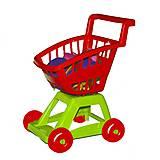 Детская игрушечная тележка с набором посуды, 36-005, детский