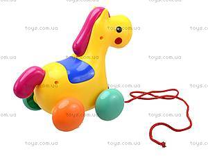 Детская игрушка-каталка «Лошадь», 863, игрушки
