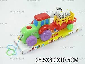 Детская игрушка-каталка с прицепом, 223-7