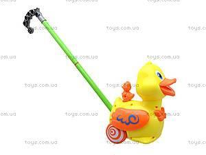 Детская игрушка-каталка «Уточка», 71557, магазин игрушек