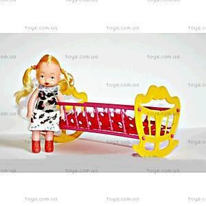 Детская игрушка Кроватка с куклой, МГ 135