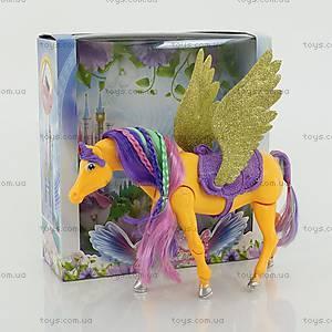 Детская игрушка «Лошадь с крыльями» с аксессуарами, 66615