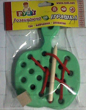Детская игрушка-шнуровка «Яблоко», Д583у