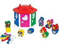 Детская игрушка-сортер «Логический домик», 6196