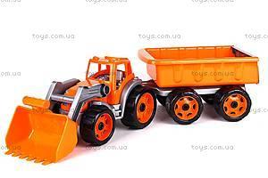 Детская игрушка «Трактор с ковшом и прицепом», 3688