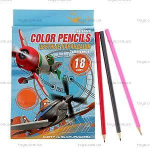 Детские цветные карандаши, 18 штук, PLBB-US1-P-18