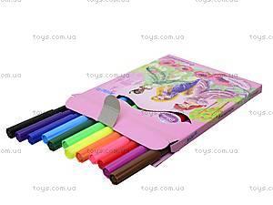 Детские фломастеры Princess, 12 штук, P13-046K, фото
