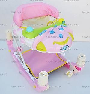 Детские ходунки-качалка, розовый цвет, 22188 PINK