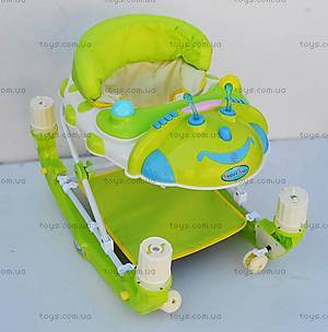 Детские ходунки-качалка, зеленый цвет, 22188 GREEN