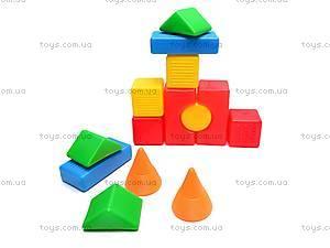 Детские кубики-конструктор «Строитель»,