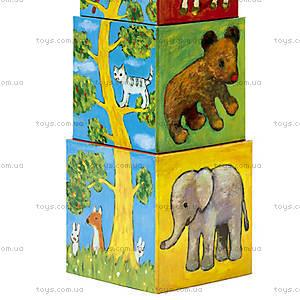 Детские кубики «Природа и животные», DJ08506, фото