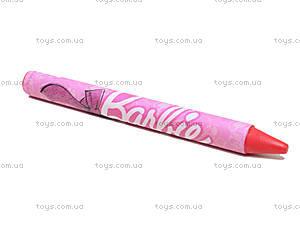 Восковые карандаши для детей Barbie, 6 цветов, BRDLR-12S-2006B, фото