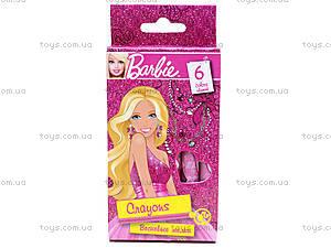 Восковые карандаши для детей Barbie, 6 цветов, BRDLR-12S-2006B