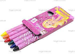Восковые карандаши для детей Barbie, 6 цветов, BRDLR-12S-2006B, отзывы