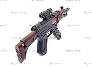 Детский автомат, со звуковыми эффектами, AK-1, купить