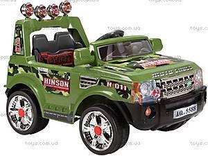 Детский электромобиль-джип р/у, зеленый, J-007