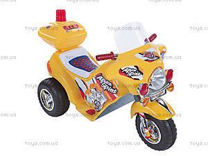 Детский электромотоцикл, желтый, 03010322 ЖEЛ