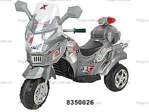 Детский электромотоцикл, серый, M-004