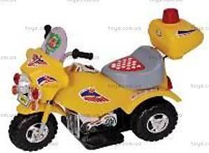 Детский электромотоцикл, синий, 2001