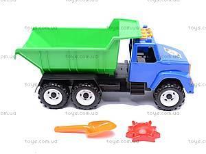 Детский грузовик, с лопаткой и формочками, 184