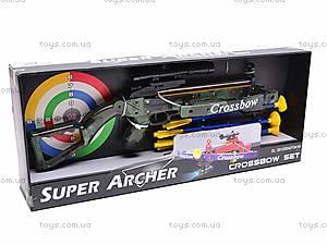 Детский игровой арбалет со стрелами, 20122C, игрушки