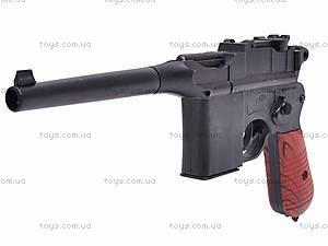 Детский игровой пистолет с пульками, C96+, фото